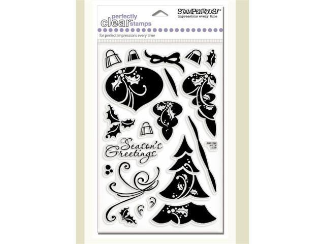 Alvin SSC1022 Damask Season Clear Stamp