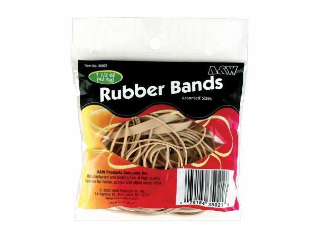 A & W Products 1.5 Oz Natural Rubber Bands  35021.P - Pack of 12