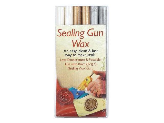 Alvin MSH7616PGS Manuscript Sealing Gun and Sealing Gun Wax Purple Gold Silver 6 Pieces