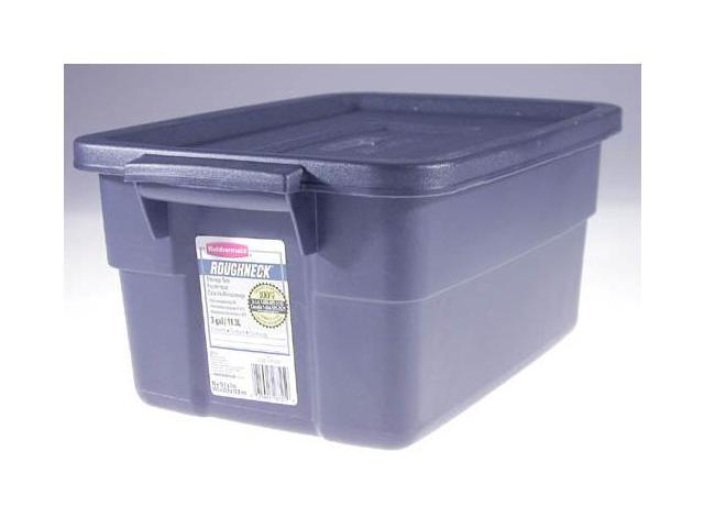 Rubbermaid 3 Gallon Dark Indigo Metallic Roughneck Storage Box  FG221300DIM - Pack of 12