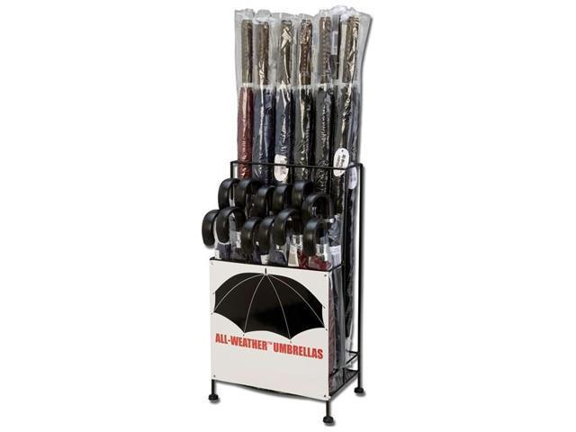 All-Weather GFUM48BP2 All-Weather 24 Pc Polyester Umbrella Set in Metal Display Stand