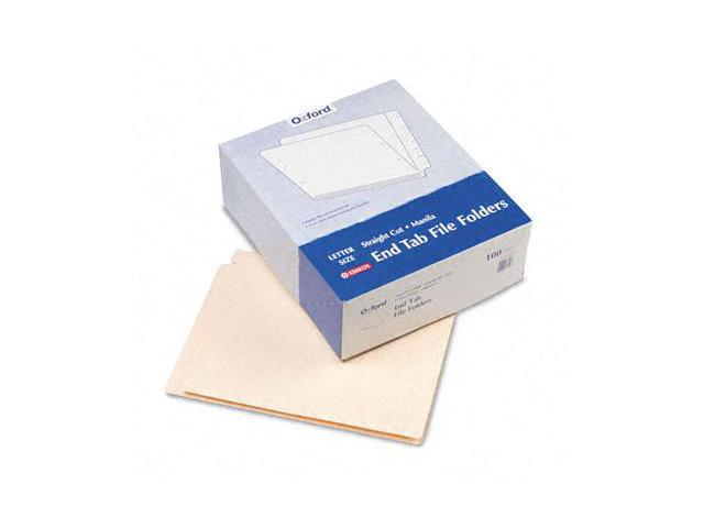 Tops Pendaflex H110D End Tab Folders  Straight Cut  Two Ply  9 1/2   Front  Letter  Manila  100/Box