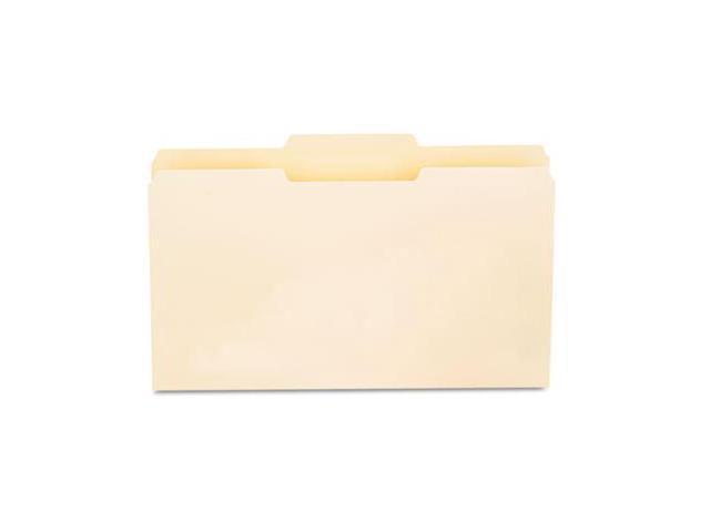 Universal 15122 File Folders- 1/3 Cut 2nd Position- One-Ply Top Tab- Legal- Manila- 100/Box