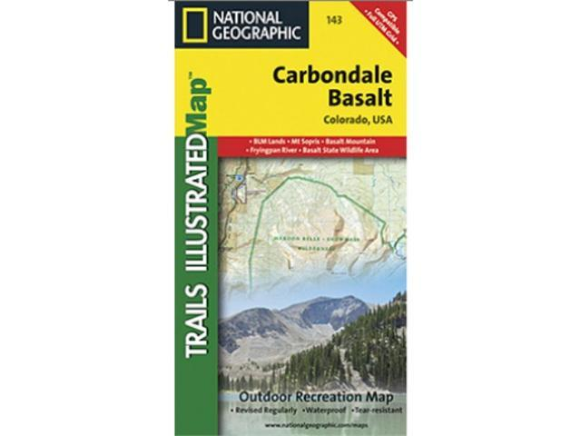 National Geographic TI00000143 Map Of Carbondale - Colorado