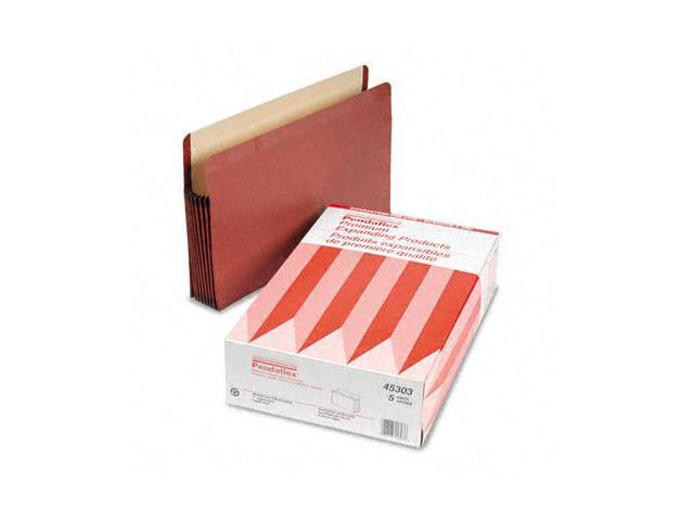 Tops Pendaflex 45303 Watershed 7   Expansion File Pocket  Straight Cut  Legal  Red  5/Box