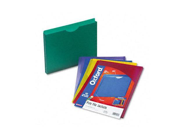 Tops Pendaflex 50990 Expanding File Jackets  Ltr  Poly  BL/GR/Purple/Red/YW  10/pk