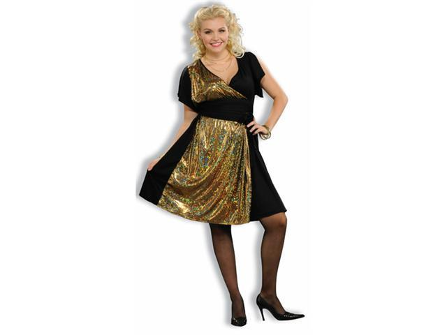 Disco Gold Women's Plus Size Costume