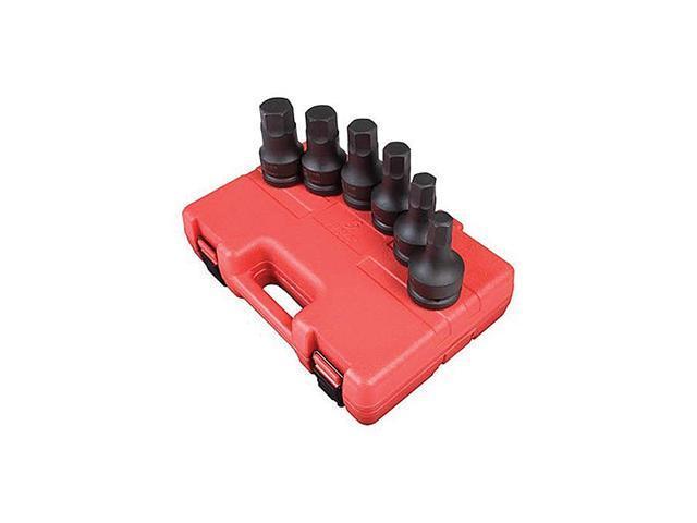 Sunex Tools 5606 6 Piece 1 Inch Drive Sae Hex Driver Impact Set