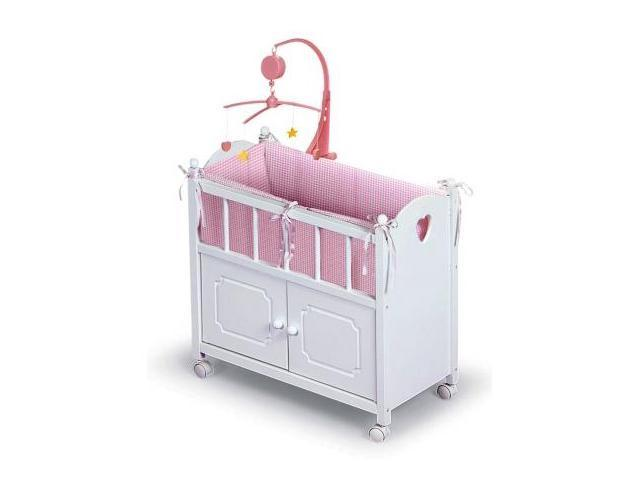 Badger Basket Doll Crib w/Bedding & Mobile