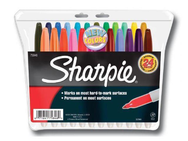Alvin&Co SN75846 Sharpie Fine Set of 24 Fade and Water Resistant Ink