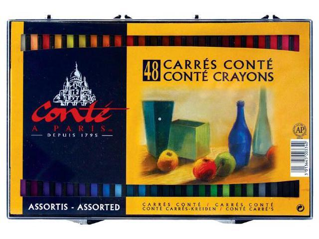 Alvin C50134 Conte Colors Asset Set Of 48