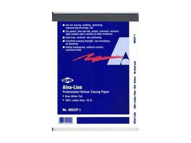 "Alvin 6855/P-5 12"" x 18"" Cotton Rag Tracing Paper Pad"