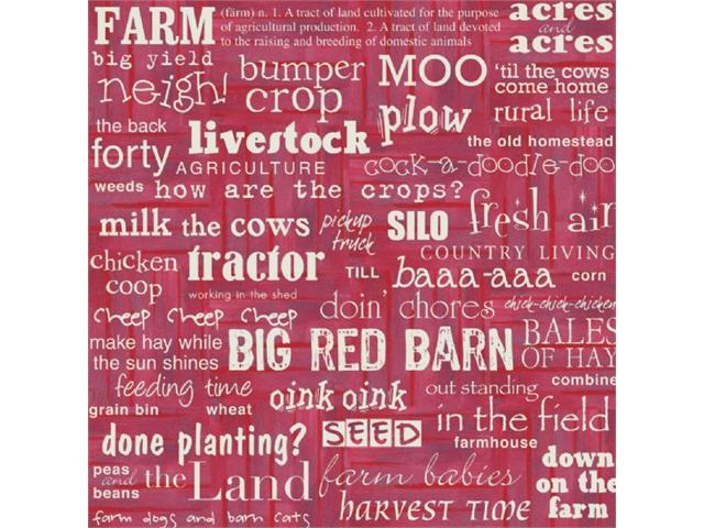 Alvin ITTLS184 12x12 Ppr Ffa Farm Words 25-pk