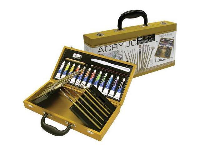 Alvin RSET-ACR2010 Acrylic Wooden Box Brush Set