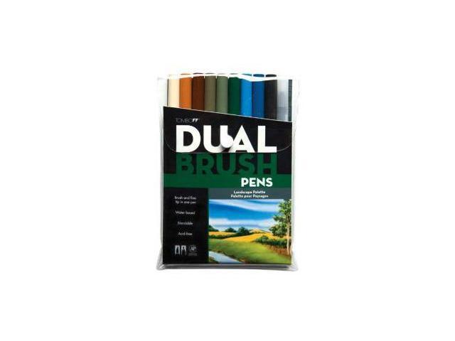 Alvin 56169 Landscape Dual Brush Pen - Set of 10
