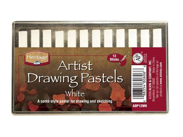 Alvin ADP12WH White Heritage Artist Drawing Pastel - Set of 12