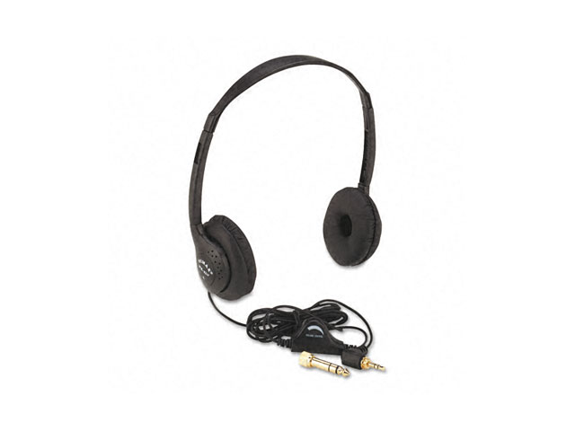 Personal Multimedia Stereo Headphones with Volume Control Black