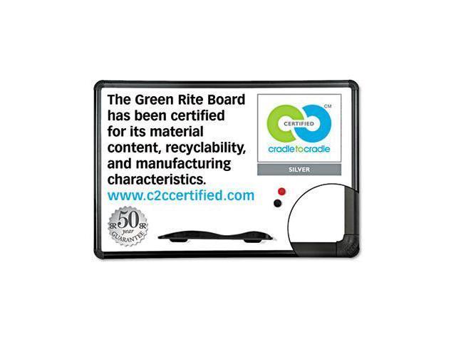 Balt E2H2PBT1 Green Rite Dry Erase Board  36 x 24  White  Black Frame