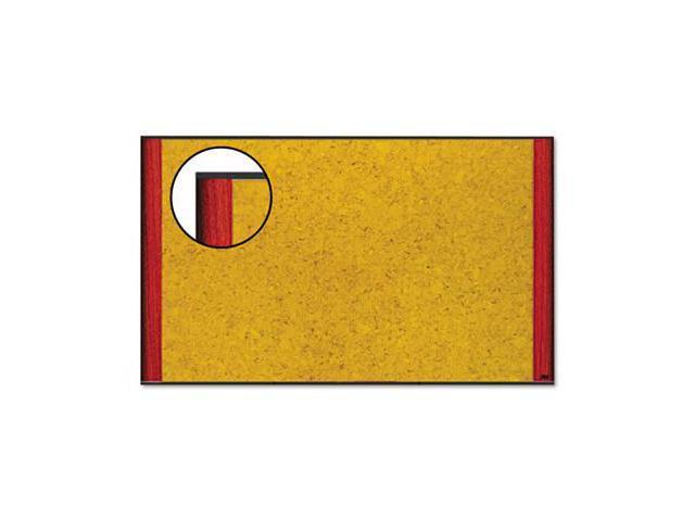 3M C7248MY Cork Bulletin Board  72 x 48  Mahogany Frame
