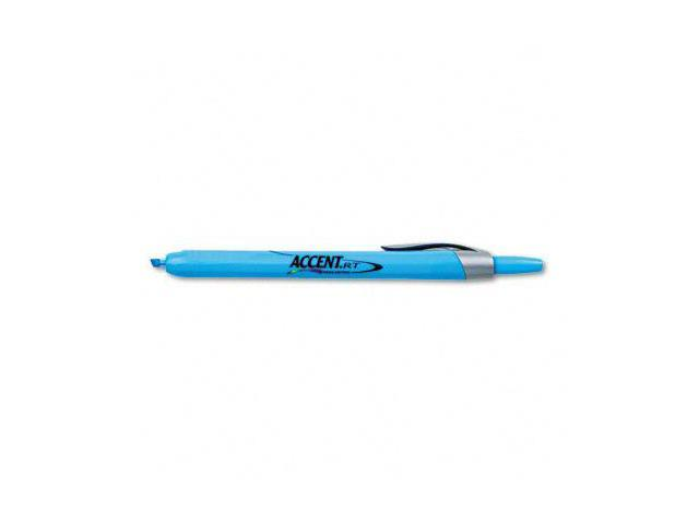 Sanford Ink 28010 Accent Retractable Highlighter Micro Chisel Tip Fluorescent Blue Pack of 12