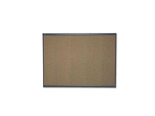Quartet B244G Prestige Bulletin Board  Graphite-Blend Cork  48 x 36  Aluminum Frame