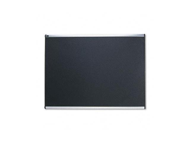 Quartet B344A Embossed Bulletin Board  Hi-Density Foam  48x36  Black  Aluminum Frame