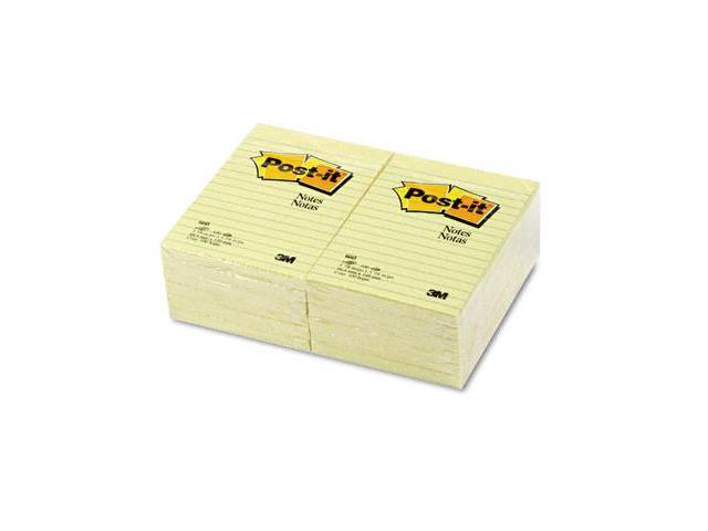 3M 660YW Original Notes  4 x 6  Canary Yellow  12 100-Sheet Pads/Pck