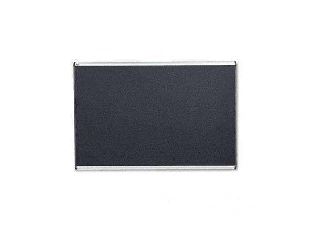 Quartet B347A Embossed Bulletin Board  Hi-Density Foam  72x48  Black  Aluminum Frame