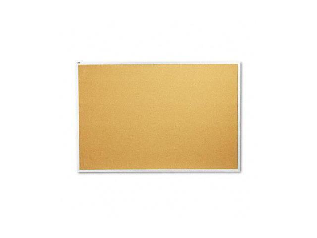 Quartet 2307 Cork Bulletin Board  Natural Cork/Fiberboard  72 x 48  Aluminum Frame