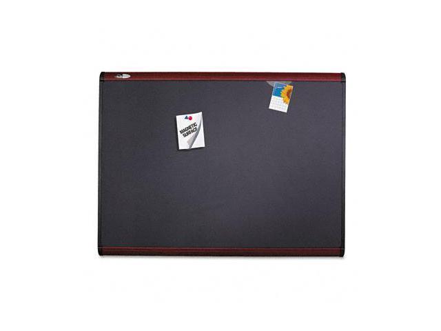 Quartet MB547M Prestige Plus Magnetic Fabric Bulletin Board  72 x 48  Mahogany Frame