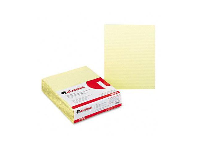 Universal 42000 Glue Top Writing Pads  Narrow Rule  Letter  Canary  12 50-Sh Pads Pack