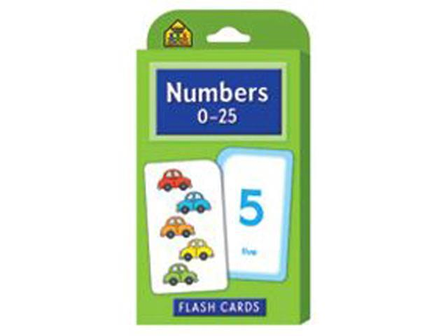 School Zone Publishing SZP04022 Numbers 0-25 Flash Cards