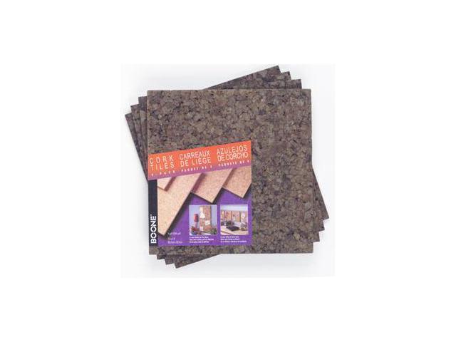 Acco Brands 4 Pack 12in. X 12in. X .25in. Dark Cork Tiles  15050Q - Pack of 4
