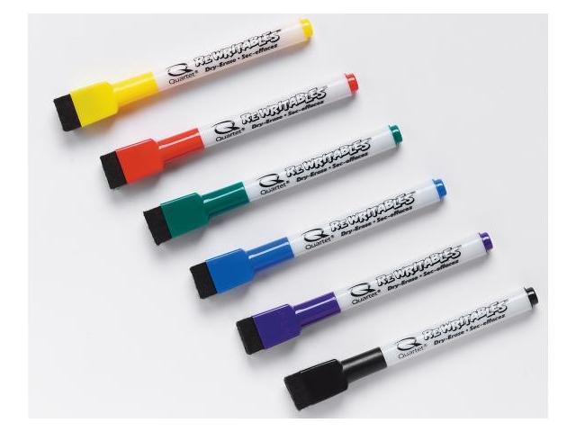Acco Brands 6 Count Low Odor Rewritables Dry Erase Mini Marker Set  51-659312Q - Pack of 6
