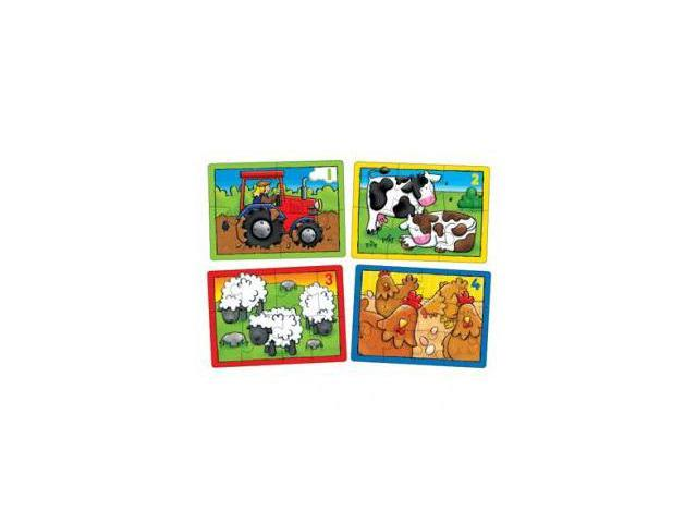 The Original Toy Company 209 - Farm Four In A Box First Counting Puzzles