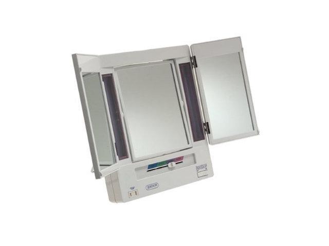Jerdon JGL9W 5X Magnification Tri-fold Lighted Mirror