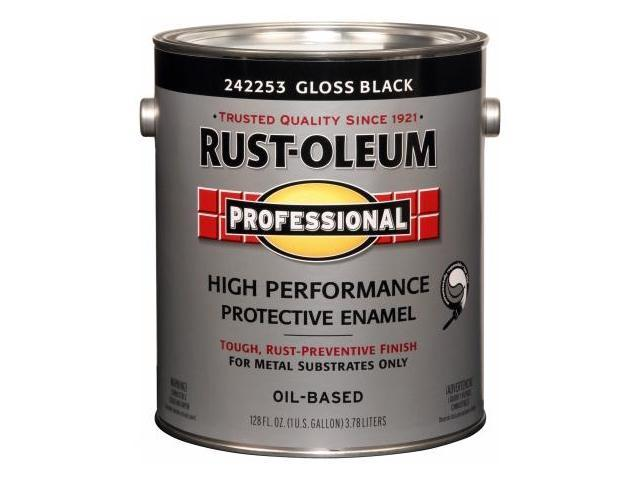 Rustoleum 1 Gallon Gloss Black High Performance Protective Enamel Low VOC 242253 - Pack of 2