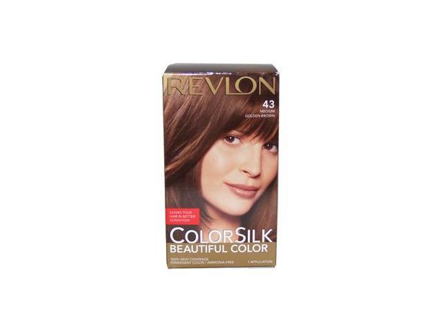 colorsilk Beautiful Color #43 Medium Golden Brown - 1 Application Hair Color