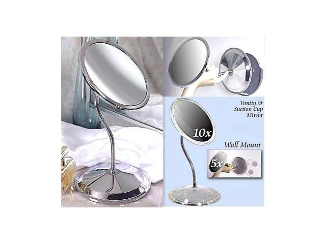 Zadro Double Vision Gooseneck Suction Cup 5X to 10X Mirror Model FG50
