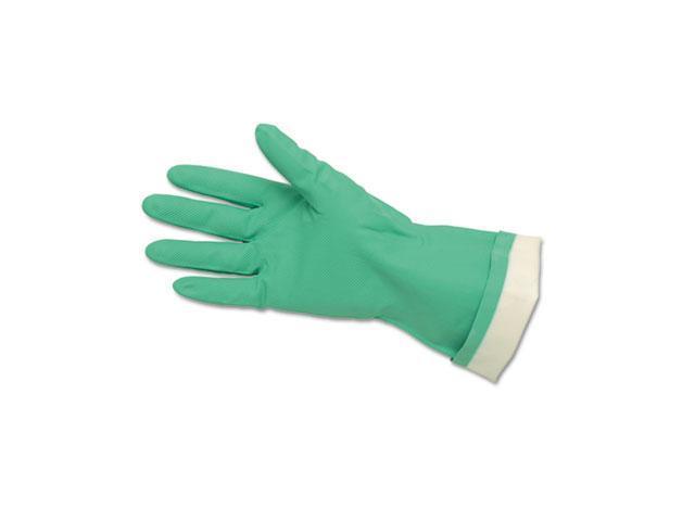 Crews 5319E Flock-Lined Nitrile Gloves, Green