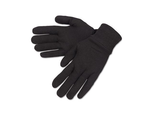 Crews 7100D General Purpose Jersey Cotton Clute Gloves, One Size, Brown, Dozen