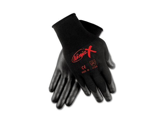 Crews N9674L Ninja X Bi-Polymer Coated Gloves, Large, Black