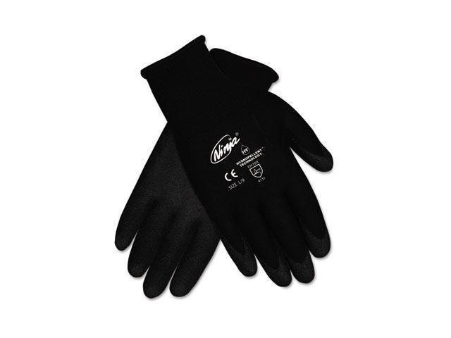 Crews N9699L Ninja HPT PVC coated Nylon Gloves, Large, Black