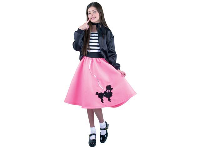 Girl's 1950's Poodle Skirt Pink Costume