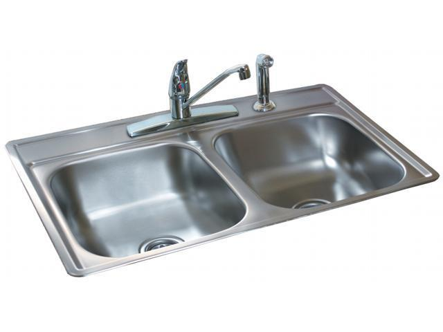 Franke Kindred 6.5in. Stainless Steel Satin Finish Double Bowl Topmount Sink  FDS6