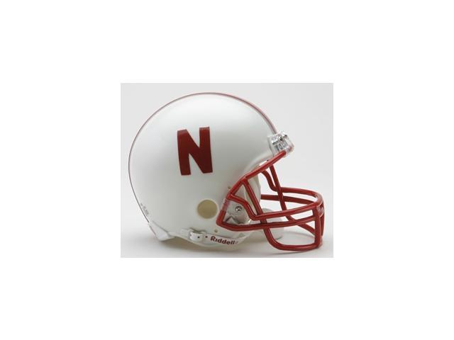 Creative Sports Enterprises RC-NEBRASKA-MR Nebraska Riddell Mini Football Helmet
