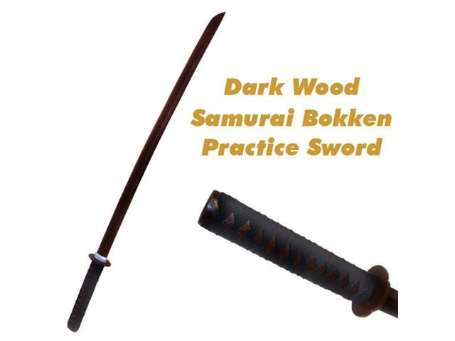 Dark Wooden Practice Samurai Bokken Sword