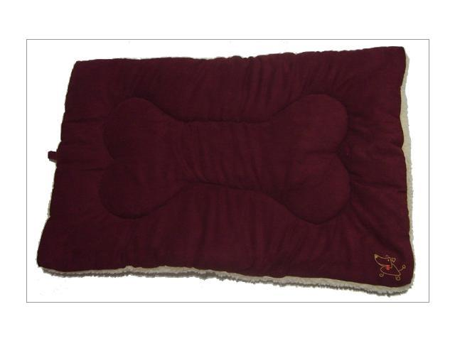Best Pet Supplies MT861M Pet Crate Mat in Burgundy Faux Suede - Medium