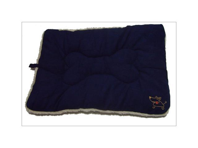 Best Pet Supplies MT862XL Pet Crate Mat in Navy Blue Faux Suede - X-Large