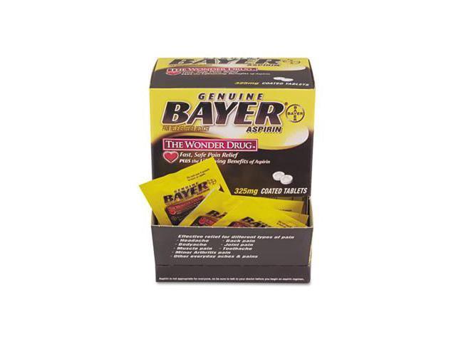 Pfy BXBG50 Bayer Aspirin Pain Reliever  50 Two-Packs per Box